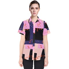 Vibrant Tropical Dot Patterns Women s Short Sleeve Shirt by Vaneshart