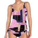 Vibrant Tropical Dot Patterns Tankini Set View1