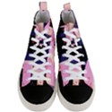 Vibrant Tropical Dot Patterns Men s Mid-Top Canvas Sneakers View1