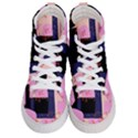 Vibrant Tropical Dot Patterns Women s Hi-Top Skate Sneakers View1