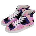 Vibrant Tropical Dot Patterns Women s Hi-Top Skate Sneakers View2