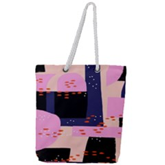 Vibrant Tropical Dot Patterns Full Print Rope Handle Tote (large) by Vaneshart