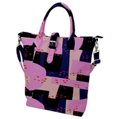 Vibrant Tropical Dot Patterns Buckle Top Tote Bag by Vaneshart