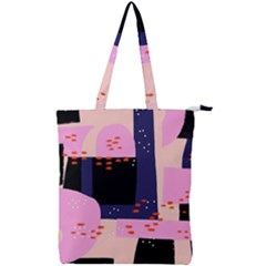 Vibrant Tropical Dot Patterns Double Zip Up Tote Bag by Vaneshart