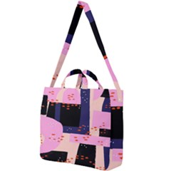 Vibrant Tropical Dot Patterns Square Shoulder Tote Bag by Vaneshart