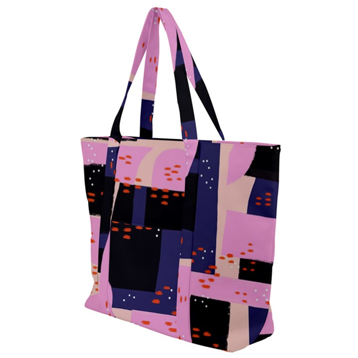 Vibrant Tropical Dot Patterns Zip Up Canvas Bag