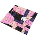 Vibrant Tropical Dot Patterns Wooden Puzzle Square View2
