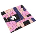 Vibrant Tropical Dot Patterns Wooden Puzzle Square View3