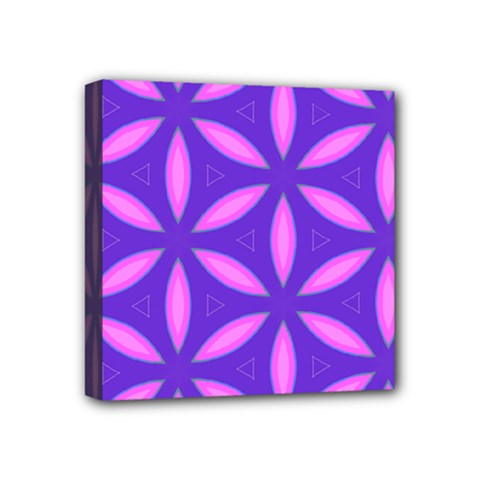 Pattern Texture Backgrounds Purple Mini Canvas 4  x 4  (Stretched)