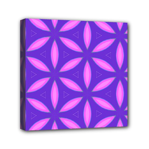 Pattern Texture Backgrounds Purple Mini Canvas 6  x 6  (Stretched)