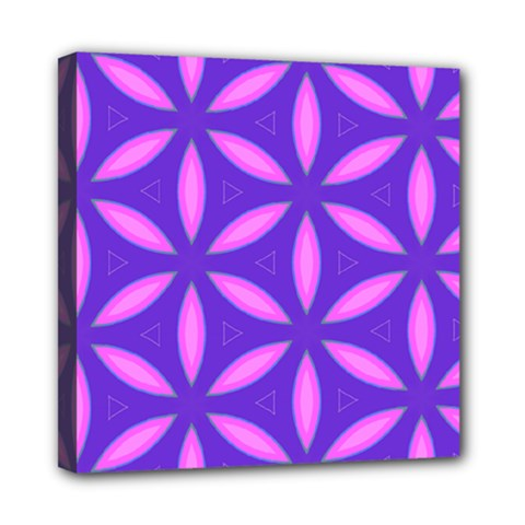 Pattern Texture Backgrounds Purple Mini Canvas 8  x 8  (Stretched)