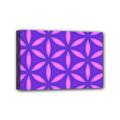 Pattern Texture Backgrounds Purple Mini Canvas 6  x 4  (Stretched)