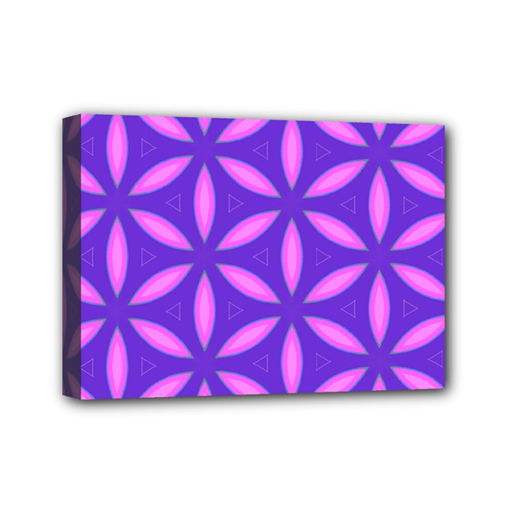 Pattern Texture Backgrounds Purple Mini Canvas 7  x 5  (Stretched)