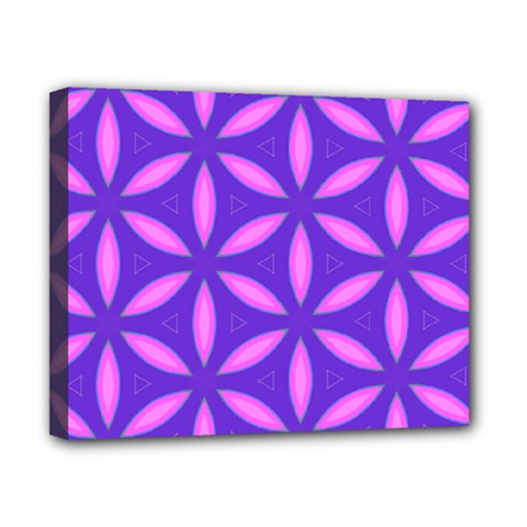 Pattern Texture Backgrounds Purple Canvas 10  x 8  (Stretched)