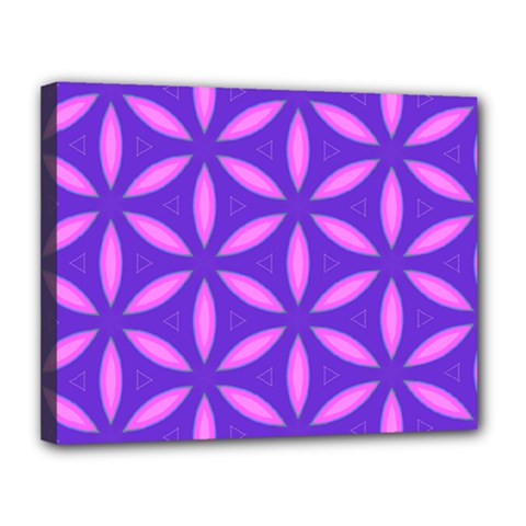 Pattern Texture Backgrounds Purple Canvas 14  x 11  (Stretched)