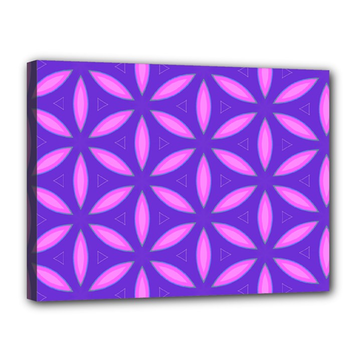 Pattern Texture Backgrounds Purple Canvas 16  x 12  (Stretched)