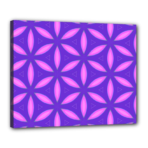 Pattern Texture Backgrounds Purple Canvas 20  x 16  (Stretched)
