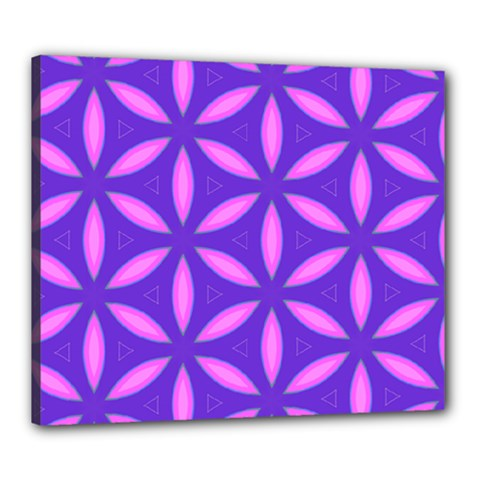 Pattern Texture Backgrounds Purple Canvas 24  x 20  (Stretched)