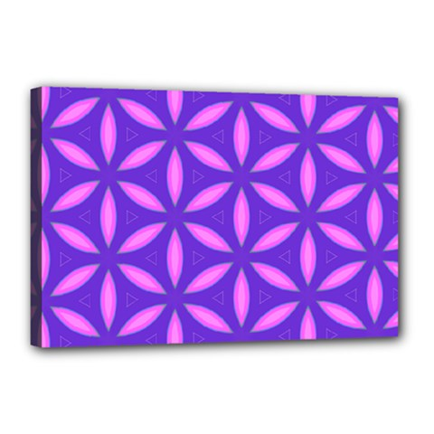 Pattern Texture Backgrounds Purple Canvas 18  x 12  (Stretched)