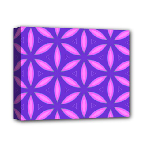 Pattern Texture Backgrounds Purple Deluxe Canvas 14  x 11  (Stretched)