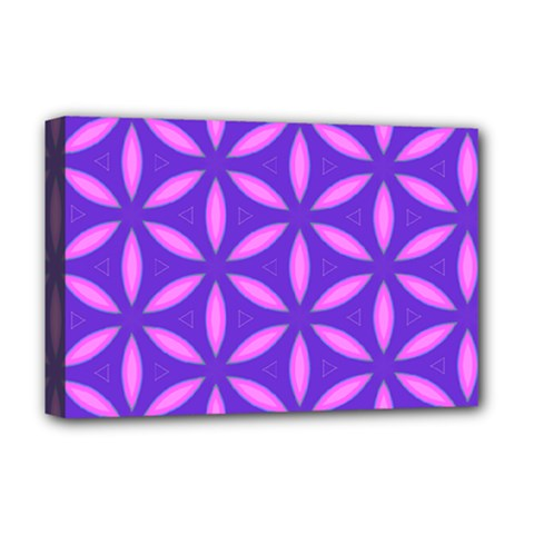 Pattern Texture Backgrounds Purple Deluxe Canvas 18  x 12  (Stretched)