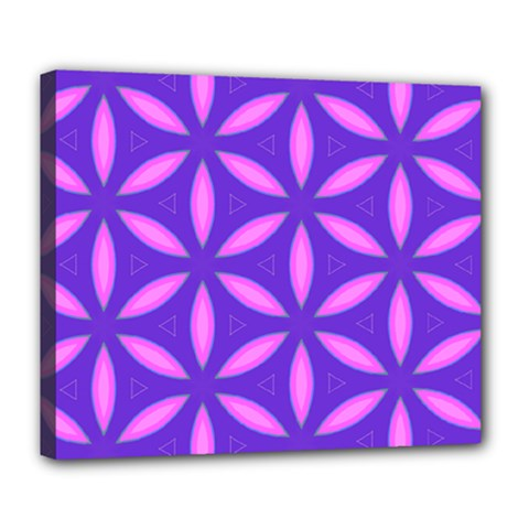 Pattern Texture Backgrounds Purple Deluxe Canvas 24  x 20  (Stretched)