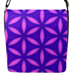 Pattern Texture Backgrounds Purple Removable Flap Cover (S)
