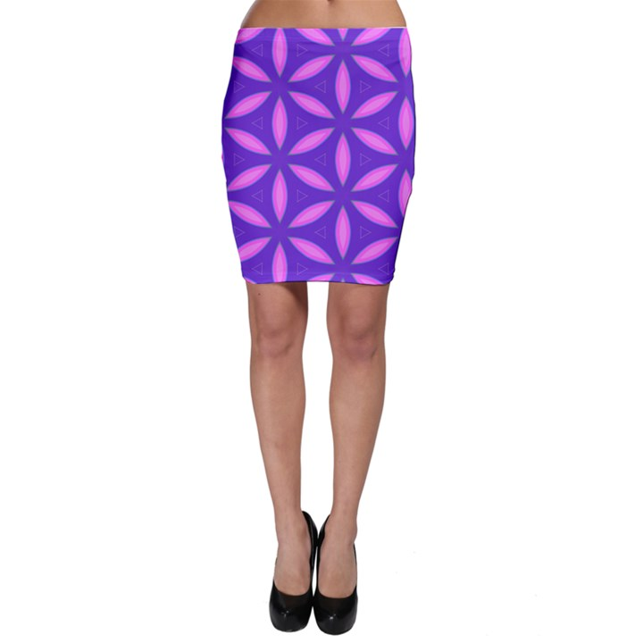 Pattern Texture Backgrounds Purple Bodycon Skirt