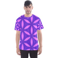 Pattern Texture Backgrounds Purple Men s Sports Mesh Tee