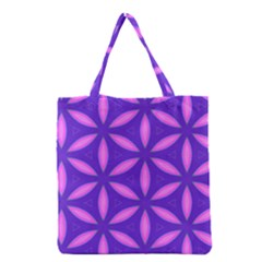 Pattern Texture Backgrounds Purple Grocery Tote Bag
