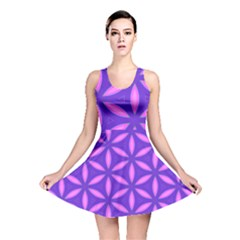 Pattern Texture Backgrounds Purple Reversible Skater Dress