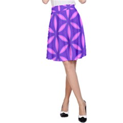 Pattern Texture Backgrounds Purple A-Line Skirt