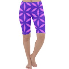 Pattern Texture Backgrounds Purple Cropped Leggings