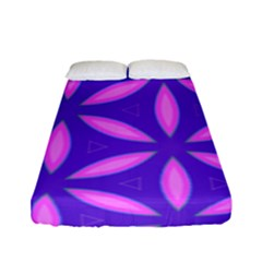 Pattern Texture Backgrounds Purple Fitted Sheet (Full/ Double Size)