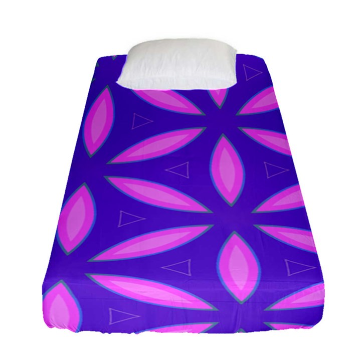 Pattern Texture Backgrounds Purple Fitted Sheet (Single Size)