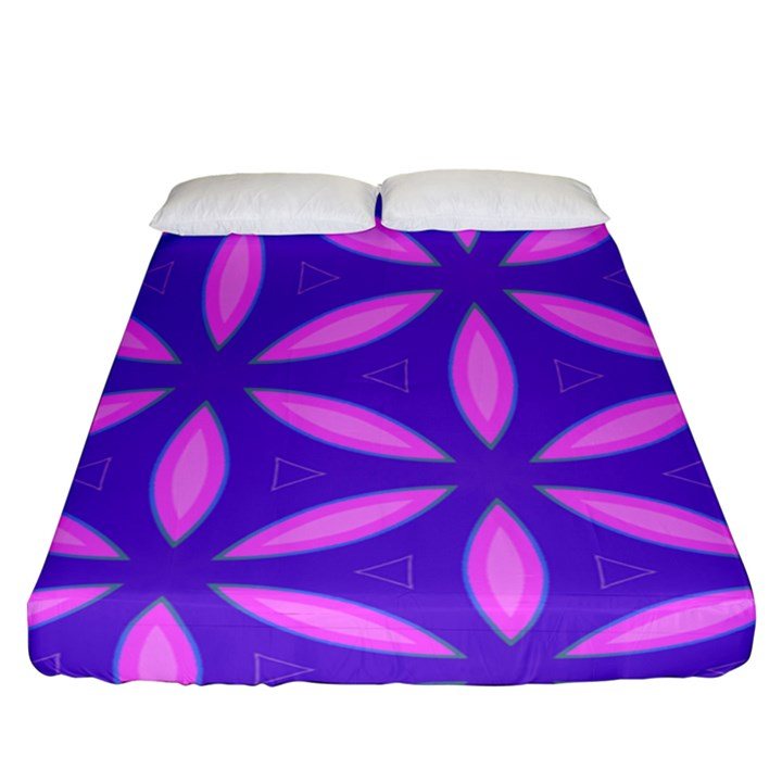 Pattern Texture Backgrounds Purple Fitted Sheet (Queen Size)
