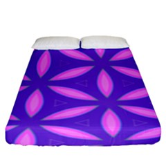 Pattern Texture Backgrounds Purple Fitted Sheet (King Size)