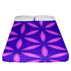 Pattern Texture Backgrounds Purple Fitted Sheet (California King Size)