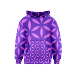 Pattern Texture Backgrounds Purple Kids  Pullover Hoodie