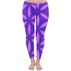 Pattern Texture Backgrounds Purple Classic Winter Leggings