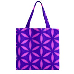 Pattern Texture Backgrounds Purple Zipper Grocery Tote Bag
