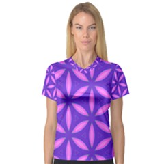 Pattern Texture Backgrounds Purple V-Neck Sport Mesh Tee