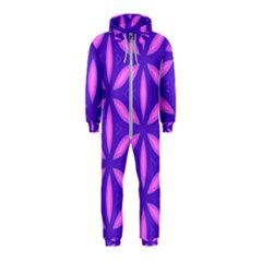 Pattern Texture Backgrounds Purple Hooded Jumpsuit (Kids)
