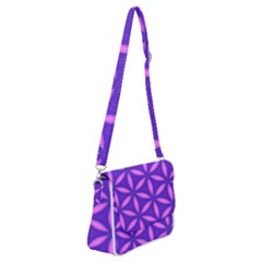 Pattern Texture Backgrounds Purple Shoulder Bag with Back Zipper