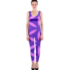 Pattern Texture Backgrounds Purple One Piece Catsuit