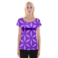 Pattern Texture Backgrounds Purple Cap Sleeve Top