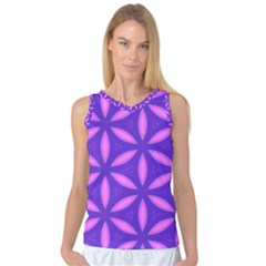 Pattern Texture Backgrounds Purple Women s Basketball Tank Top