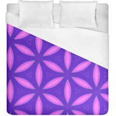 Pattern Texture Backgrounds Purple Duvet Cover (King Size)