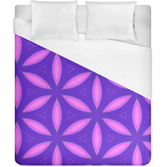 Pattern Texture Backgrounds Purple Duvet Cover (California King Size)
