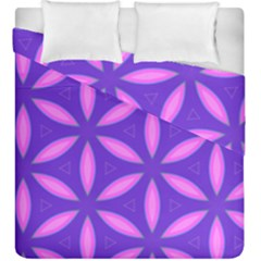 Pattern Texture Backgrounds Purple Duvet Cover Double Side (King Size)